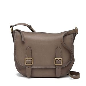 Frye Lily Leather Crossbody in Charcoal